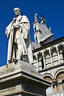 Statue of Francesco Burlamacchi, infront of Church of San Michele In Foro, Lucca, Italy by fg-ottico