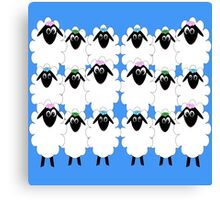 18 silly cartoon sheep Canvas Print
