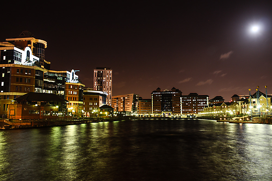 Salford Quays by Night by Ana Cunha
