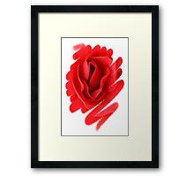 Flower Art Work Framed Print