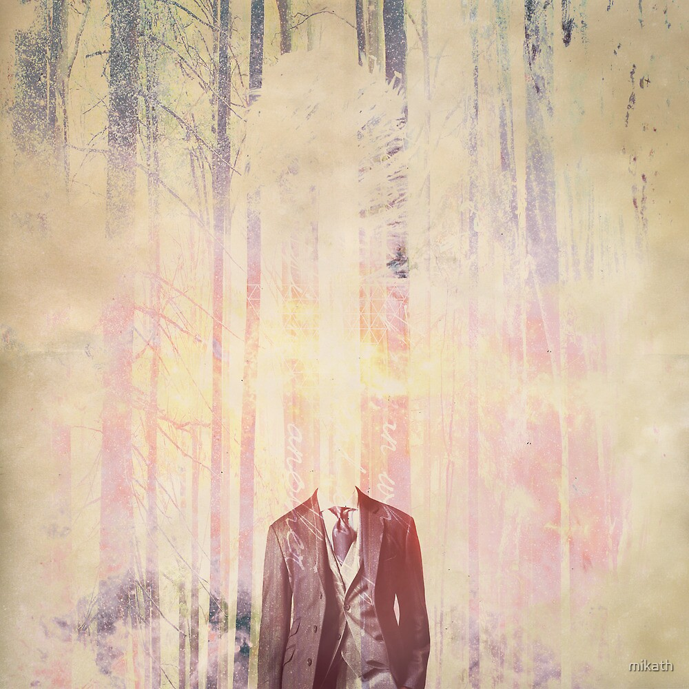 Headless man in the woods by mikath