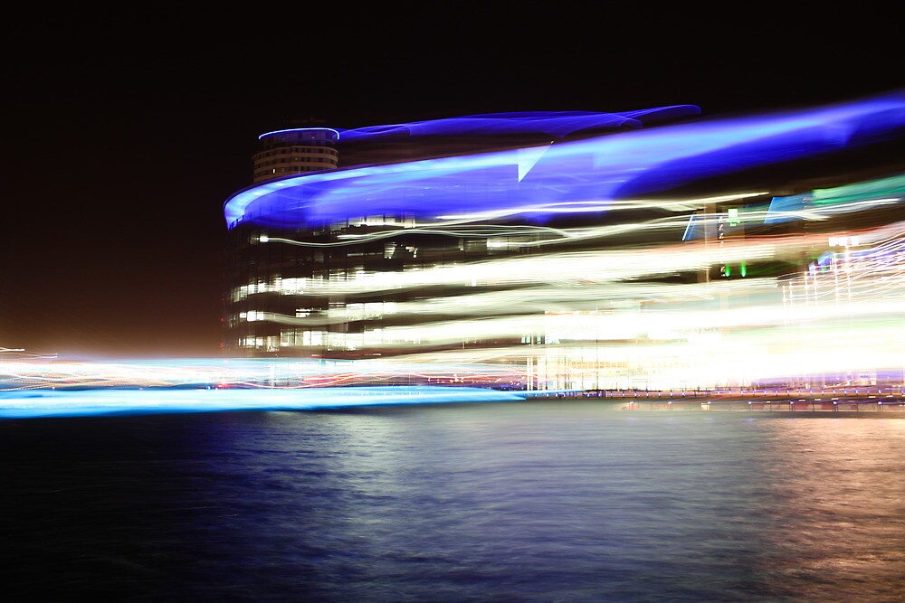 Ahead of its time - MediaCityUK by Night by Ana Cunha