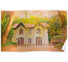 chalet in autumn Poster