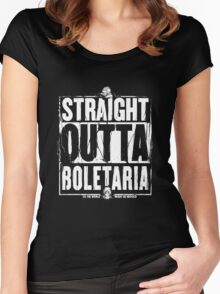 Straight Outta Boletaria Women's Fitted Scoop T-Shirt