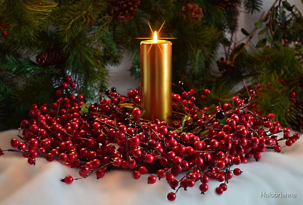 Christmas wreath by Halobrianna