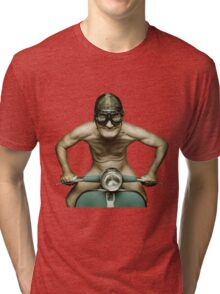 Scooter Man Shirt 2 Tri-blend T-Shirt