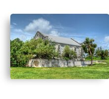 Abandoned Church on Paradise Island in The Bahamas Canvas Print