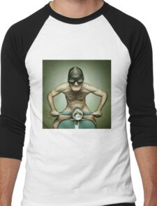 Scooter Man Shirt Men's Baseball ¾ T-Shirt