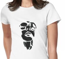 Two tone shades (black on white) Womens Fitted T-Shirt