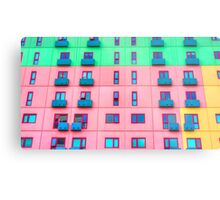 Colourfully Painted Exterior Apartment Building Wall - Melbourne, Victoria Metal Print