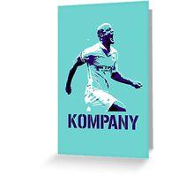 Vincent Kompany Manchester City Greeting Card
