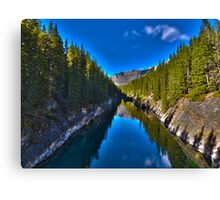Reflections at Lake Minnewanka Canvas Print