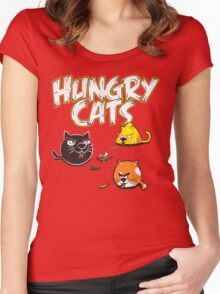 Hungry Cats Women's Fitted Scoop T-Shirt
