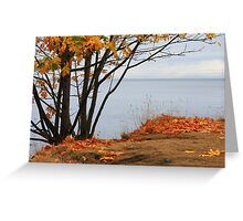Autumn sliced with a tear Greeting Card