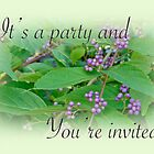 Party Invitation - General - American Beautyberry Shrub by MotherNature