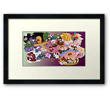Mei and Friends Collage Framed Print