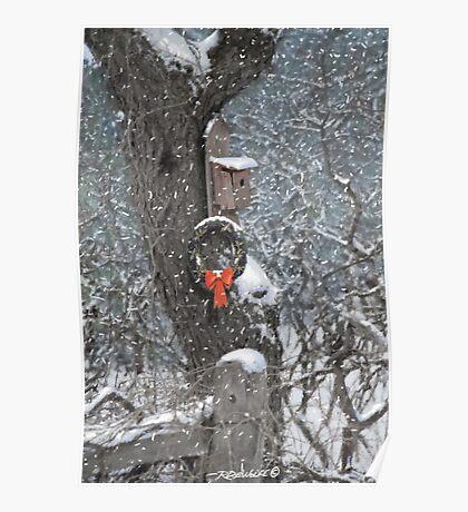 A Christmas Bird House Poster