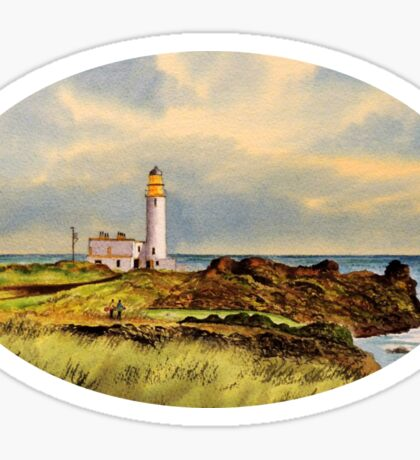 Turnberry Golf Course 9th Tee Sticker