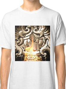 Candlelight Meditating Buddha Classic T-Shirt