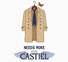 Needs More Castiel Men's Baseball ¾ T-Shirt