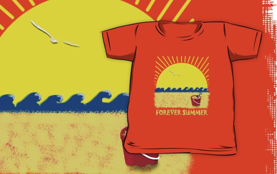 Forever Summer 8 Child's T-shirt by Linda Lees