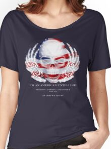 Skull and Wings America Women's Relaxed Fit T-Shirt