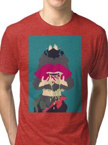 Aoba + Gas Mask Tri-blend T-Shirt