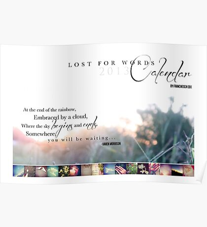 Lost for Words 2013 Calendar Cover Poster