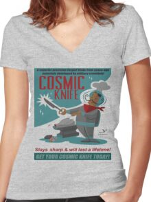 Cosmic Knife Women's Fitted V-Neck T-Shirt