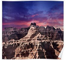 Sunrise over Badlands National Park .7 Poster