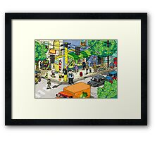 Meanwhile In My Brain Framed Print