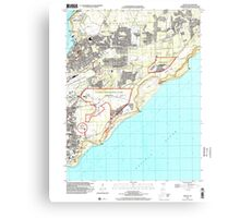 USGS TOPO Map Guam Dededo 462382 2000 24000 Canvas Print