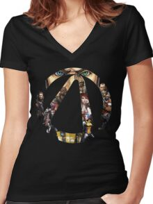 Borderlands - Characters and Vault Women's Fitted V-Neck T-Shirt