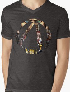 Borderlands - Characters and Vault Mens V-Neck T-Shirt
