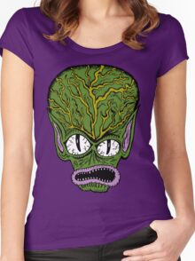 Saucer Man Women's Fitted Scoop T-Shirt