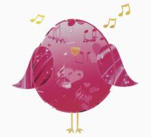 Pink Little Song Bird One Piece - Short Sleeve