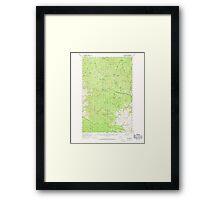 USGS Topo Map Washington State WA Loup Loup 242078 1956 62500 Framed Print
