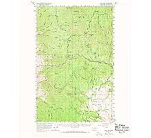 USGS Topo Map Washington State WA Loup Loup 242078 1956 62500 Photographic Print