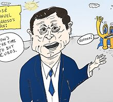 Euroman and Jose Manuel Barroso caricature by Binary-Options