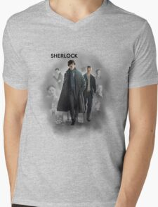 BBC Sherlock Mens V-Neck T-Shirt