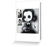 Olivia Creepy Girl  Greeting Card