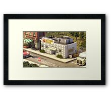 Hamburger shop Framed Print