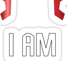 I AM THE LAW Sticker