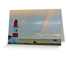 Souter Lighthouse Rainbow Greeting Card