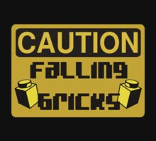 Caution Falling Bricks by Customize My Minifig by ChilleeW