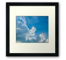 Blue skies of mine... Framed Print