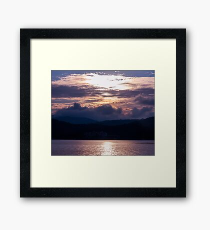 Calm sunset on the Adriatic Framed Print