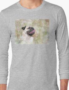 Pug Happiness Long Sleeve T-Shirt