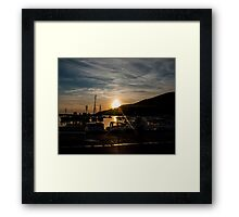 Sunset in old town of Komiza (Adriatic) Framed Print
