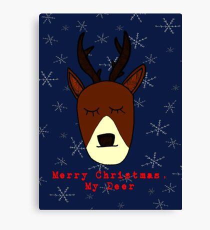 Merry Christmas, My Deer Canvas Print